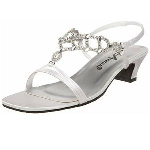 Annie 11 Silver jeweled strappy sandal